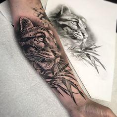 Tattoo artist Rob Richardson black and grey realistic tattoo blackwork authors style United Kingdom Tiger Tattoo Sleeve, Cat Tattoo, Sleeve Tattoos, Body Art Tattoos, New Tattoos, Cool Tattoos, Wing Tattoos, Celtic Tattoos, Leopard Tattoos