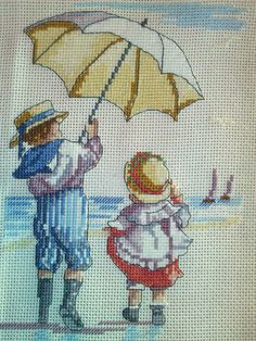 Cross Stitch, all our yesterdays, windy day,