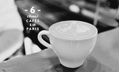 6 Bons Cafés em Paris