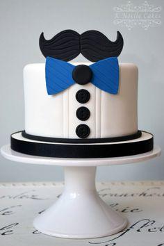Mustache theme birthday cake by K Noelle Cakes Schnurrbart-Thema-Geburtstagstorte von K Noelle Birthday Cakes For Men, Mustache Birthday Cakes, Moustache Cake, Mustache Theme, New Birthday Cake, Birthday Cupcakes, Men Birthday, Birthday Parties, Birthday Ideas