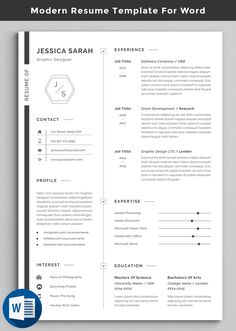Buy Resume by creative-zoom on GraphicRiver. Professional Resume / CV Template with super modern and professional look. Elegant page designs are easy to use and c. Resume Tips, Resume Cv, Resume Design, Resume Ideas, Modern Resume Template, Cv Template, Resume Templates, Graphic Resume, How To Make Resume