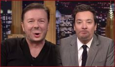 Watch: #RickyGervais Can't Stop Laughing During Hi...