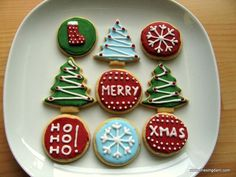 American Christmas Cookies - Sugar Cookies with Royal .-Amerikanische Weihnachtsplätzchen – Sugar Cookies mit Royal Icing Christmas Gifts from the Kitchen {flowers on my plate} The very best shortbread biscuits - Christmas Biscuits, Christmas Sugar Cookies, Christmas Snacks, Christmas Cooking, Christmas Goodies, Holiday Cookies, Christmas Gifts, Christmas Recipes, Christmas Design