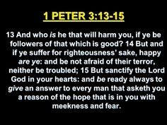 1 Peter 3:13-15