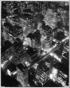 Berenice Abbott, New York at Night c. 1932. From Le Clown Lyrique