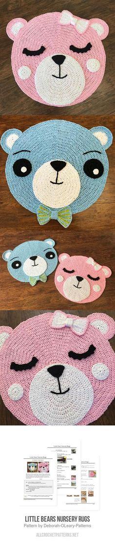 Little Bears Nursery Rugs crochet pattern