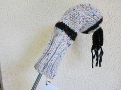 Golfschlägerhaube Highland weiß - Driver von der woll-loewe auf DaWanda.com