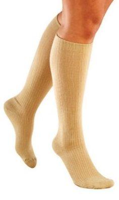 TRUFORM LITES Comfort Casual Socks for Women 10-20 mmHg X-Large Tan TruForm. $11.75