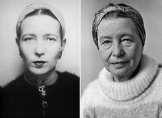 Simone de Beauvoir (9 de enero de 1908 - 14 de abril de 1986)