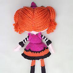 Lalaloopsy Candy Broomsticks Doll amigurumi crochet pattern by Epic Kawaii