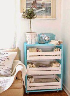 Tu Organizas.: DIY: Caixote de feira para Organizar e Decorar
