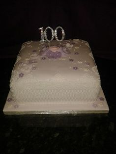 100th birthday cake.