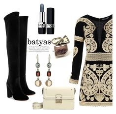 """batyas"" by elly-852 ❤ liked on Polyvore featuring For Love & Lemons, Aquazzura, Valentino and Christian Dior"