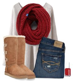 A Steady Beat Goes 1234, A Steady Heart Goes I Love You More by hailstails on Polyvore featuring Abercrombie & Fitch, Keds, UGG Australia and Essie