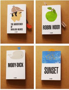 jacket+bookmarks. designers are so clever.