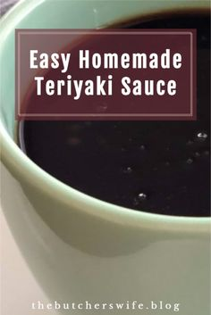 Easy Homemade Teriyaki Sauce made from scratch with simple ingredients!  Recipe is fast and easy and done in under 10 minutes! Honey And Soy Sauce, Ginger And Honey, Homemade Teriyaki Sauce, Homemade Sauce, Honey Dijon Dressing, Hot Fudge Sauce, Quick Stir Fry, Homemade Seasonings, Fast Easy Meals
