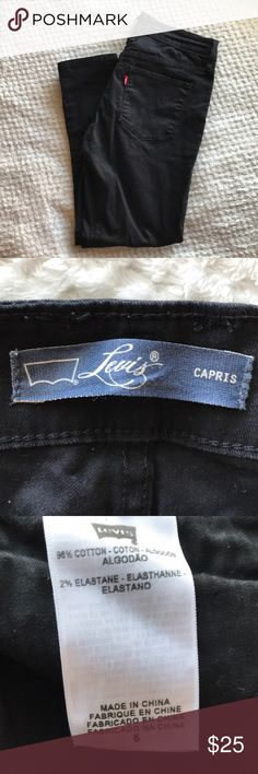 Levi's Skinny Jeans Levi's Skinny Jeans Capris Size 6 Color Black Levi's Jeans Ankle & Cropped