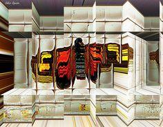 https://flic.kr/p/uTJ87W | Espaço tridimensional com borboleta e ruínas