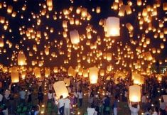 Light up the sky with wishes  #romantic, #lanterns, #weddings, #lighting
