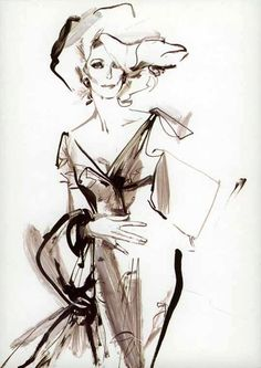 Carmen Dell'Orefice by David Downton