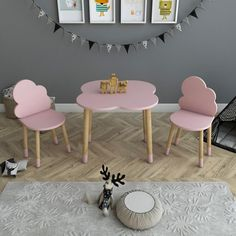 Baby room table and chairs,pink cloud chairs,Wooden cloud kids chairs and table, Baby Girl Nursery Pink And Grey, Fairytale Room, Wooden Table And Chairs, Baby Chair, Baby Room Decor, Kids Furniture, Cloud, Kids Room, Awesome