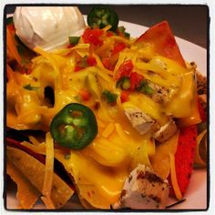 Grilled Chicken 3-Cheese Nachos; Full Menu: http://highlineballroom.com/menu/