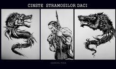 draco dacians flag dracones  stindard steag dacic lup dac geto dac