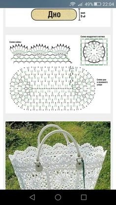 Best 12 Crochet Patterns Lace Crochet Lace Edging for Handtowel ~~ sandragcoatti – Salvabrani – SkillOfKing. Crochet Basket Pattern, Crochet Lace Edging, Crochet Tote, Crochet Diagram, Crochet Handbags, Crochet Purses, Knit Crochet, Crochet Patterns, Crochet Baskets