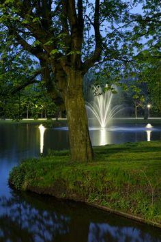 de stad Vondelpark nacht