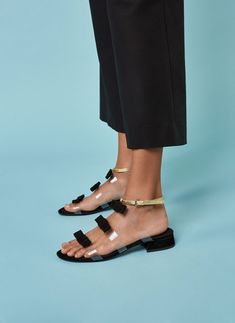 Vinyl flat strappy sandals - View all - New in - Uterqüe Netherlands