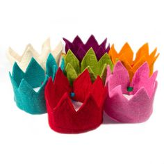 Wool Felt Crown - totally expensive but could easily be made with yellow felt as a party favor.