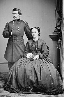 Gen. George B. McClellan and his wife Mary Ellen Marcy.