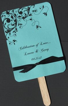 Tiffany Blue Wedding Fan-These would be great, Linda!