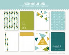 Free Project Life Filler & Journaling Card Set
