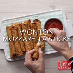 Wonton Mozzarella Sticks Recipe