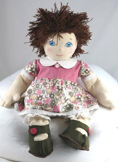 Handmade Cloth Rag Doll Waldorf Inspired Baby Doll 18 by MiaPuPe, $96.00