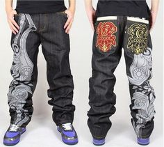 4N2 Men HipHop Ecko unltd Skateboard Casual Rhino Embroidery Jeans Graffiti Pant in Clothing, Shoes & Accessories, Men's Clothing, Jeans | eBay