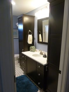 Shaker Door Style Espresso Stain Wilsonart Haida Quartz Counter Top  Bridgewood Advantage Custom Cabinets