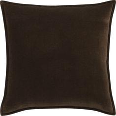"Monroe Espresso 18"" Pillow in Decorative Pillows | Crate and Barrel"