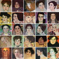 Collage of Klimt's women