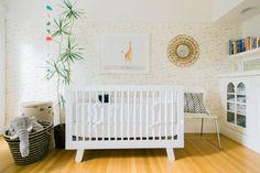 Gender neutral nursery: http://www.stylemepretty.com/living/2015/05/21/gender-neutral-safari-nursery/   Photography: Emily Scannell - http://emilyscannell.com/