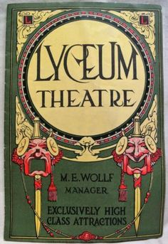 LYCEUM THEATRE ROCHESTER NEW YORK SOUVENIR PROGRAM FOR THE RAINBOW 1910s VINTAGE