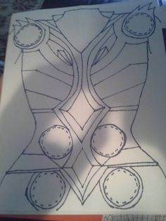 Thor chest armor outline tutorial                              …
