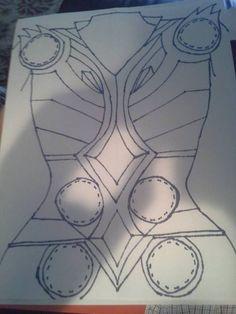 Thor chest armor outline tutorial