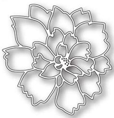 Memory Box - Die - Lovely Peony Outline,$9.99
