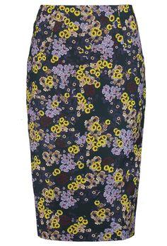Erdem Frida Floral Print Twill Pencil Skirt - off, found on sale for Navy Blue Pencil Skirt, Printed Pencil Skirt, Floral Print Skirt, Printed Skirts, Floral Tie, Navy Skirt, Pencil Skirts, High Skirts, Erdem