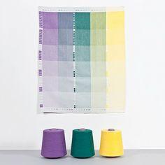 3 Geschirrtücher - Lila/Petrol von Raw Color | MONOQI