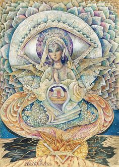 "Veda Ram ""Серафима"" Seraph Angel, Angel Guide, Angel Cards, Reproduction, Lost & Found, Mystic, Meditation, Spirituality, Wings"