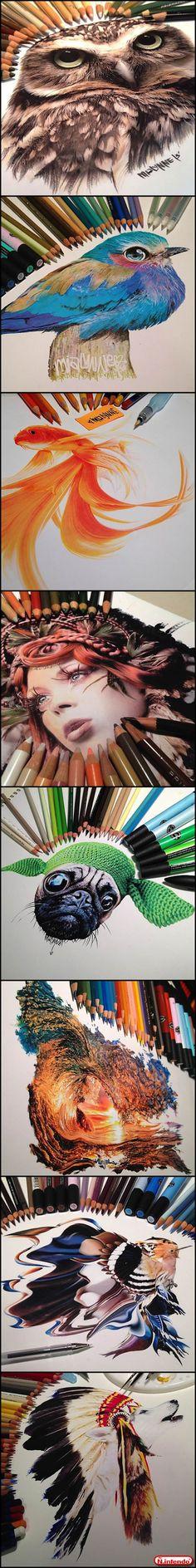 Pinturas Espetaculares Feitas Com Lápis de Cores