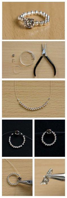 Easy Elastic Ring DIY Tutorial